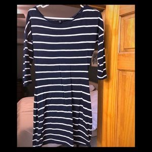 Express Navy and White Dress
